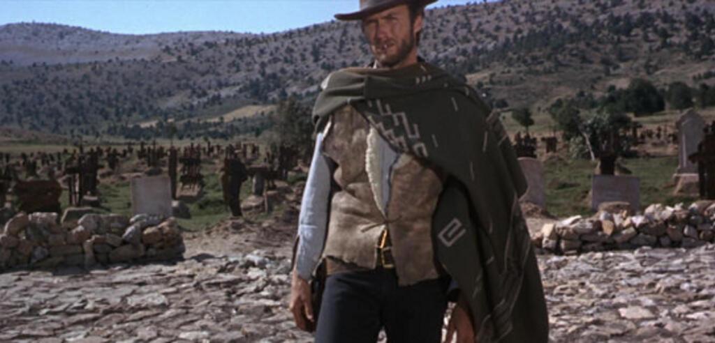 Clint Eastwood vor dem entscheidenden Duell in Zwei Glorreiche Halunken