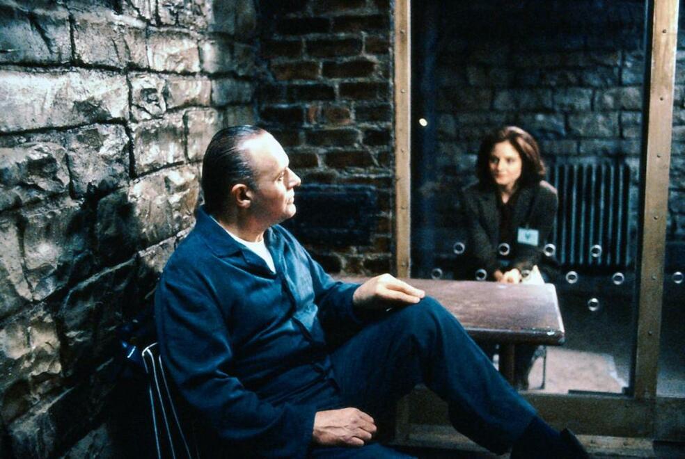Das Schweigen der Lämmer mit Anthony Hopkins und Jodie Foster