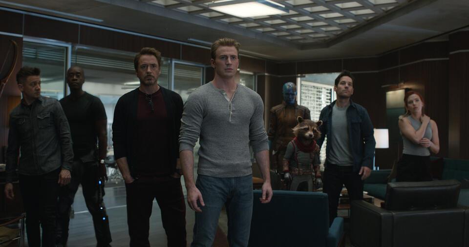Avengers 4: Endgame mit Robert Downey Jr., Scarlett Johansson, Jeremy Renner, Chris Evans, Paul Rudd und Don Cheadle