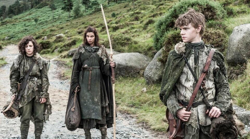 Game of Thrones mit Thomas Brodie-Sangster, Natalia Tena und Ellie Kendrick