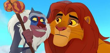 Altes Bild, neue Geschichte: Rafiki und Simba in The Lion Guard
