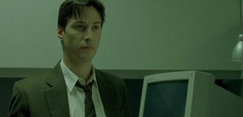 Bild zu:  Keanu Reeves als Hacker Neo
