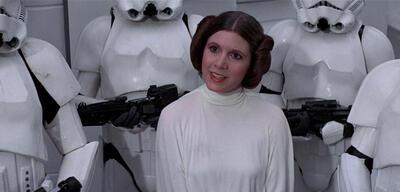 Carrie Fischer in Star Wars: Eine neue Hoffnung