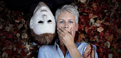Promo-Bild für Halloweenmit Jamie Lee Curtis
