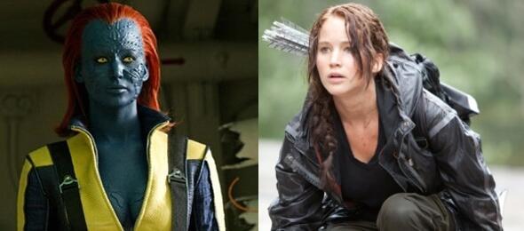 Jennifer Lawrence in X-Men und Die Tribute von Panem