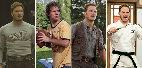 Chris Pratt in Guardians of the Galaxy Vol. 2, Everwood, Jurassic World und Parks and Recreation
