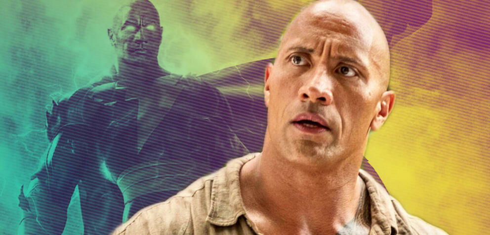 Black Adam und Dwayne Johnson