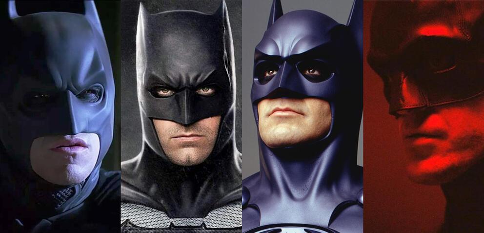 Batman in verschiedensten Varianten