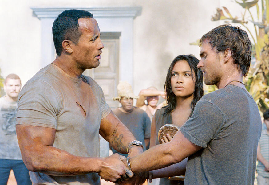 Welcome to the Jungle mit Dwayne Johnson, Seann William Scott und Rosario Dawson