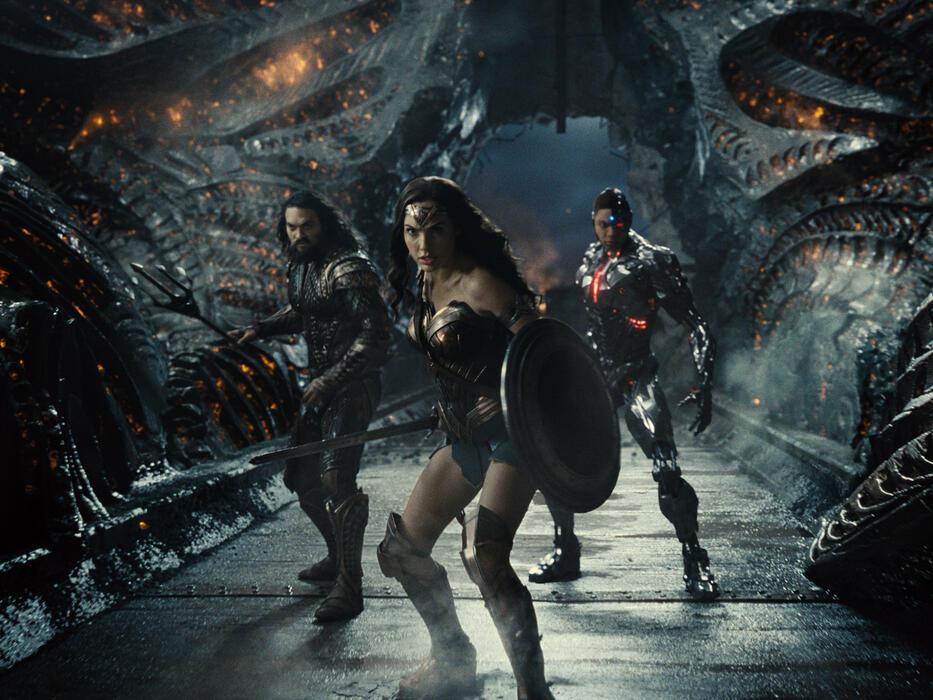 Zack Snyder's Justice League mit Gal Gadot, Jason Momoa und Ray Fisher
