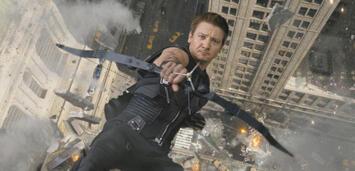 Bild zu:  Bald auch mit Captain America unterwegs? Jeremy Renner als Hawkeye in The Avengers