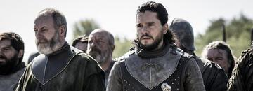 Liam Cunningham und Kit Harington in Game of Thrones