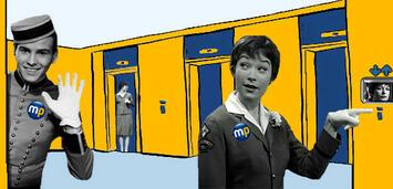 Bild zu:  In welches Film-Stockwerk dürfen euch Felix Krull und Miss Kubelik begleiten?