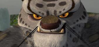 Schneeleopard und Bösewicht Tai Ling im ersten Kung Fu Panda-Film.