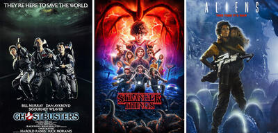 Ghostbusters, Stranger Things und Aliens