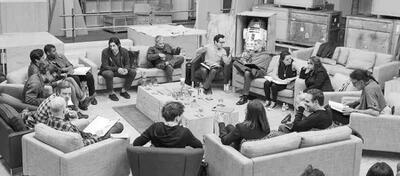 Der Star Wars 7-Cast bei der Leseprobe