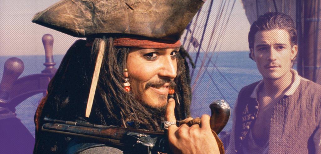 Johnny Depp als Captain Jack Sparrow in Fluch der Karibik