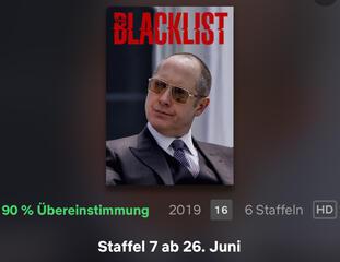 The Blacklist in der Netflix-App
