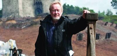 Ridley Scott am Set von Robin Hood