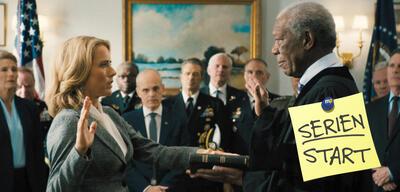 Téa Leoni und Morgan Freeman in Madam Secretary, Staffel 3