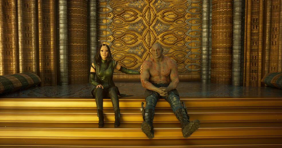 Guardians of the Galaxy Vol. 2 mit Dave Bautista und Pom Klementieff