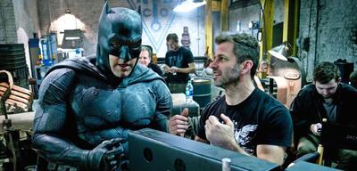 Ben Affleck und Zack Snyder bei den Dreharbeiten zu Dawn of Justice