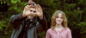 Alfonso Cuarón mit Emma Watson am Set von Harry Potter 3
