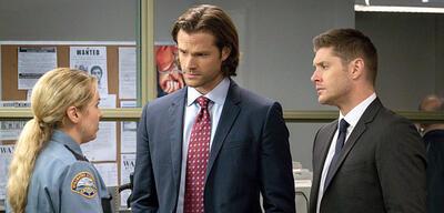 Supernatural: Briana Buckmaster mit Jared Padalecki und Jensen Ackles
