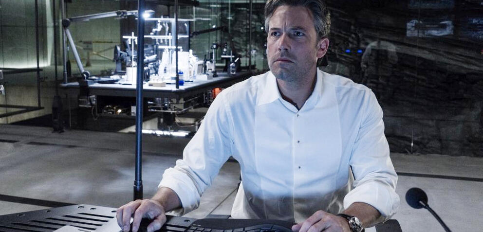Ben Affleck in Batman v Superman oder beim Skript-Schreiben?