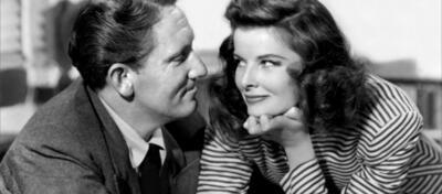 Spencer Tracy und Katharine Hepburn in Die Frau, von der man spricht (Woman of the Year / 1941)