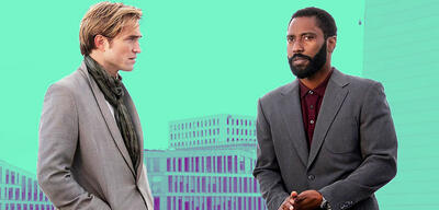Robert Pattinson und John David Washington in Tenet