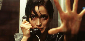 Carrie-Anne Moss als Trinity in Matrix