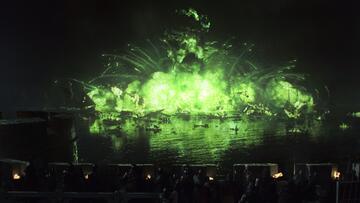 Explosion des Seefeuers