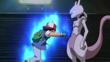 Ash und Mewtu in Pokémon - Der Film