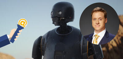 Alan Tudyk spricht den Imperiums-Droiden K-2SO in Rogue One: A Star Wars Story