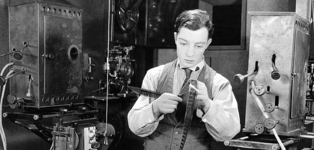 Auch das ist Buster Keaton in SHERLOCK JR.