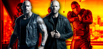 Bild zu:  Hobbs and Shaw - Dwayne Johnson, Jason Statham und Idris Elba