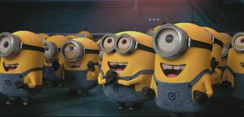 Bild zu:  Die Minions freuen sich über ihren Erfolg
