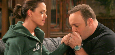 Leah Remini und Kevin James in King of Queens