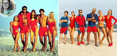 Die Baywatch-Crew in der Serie und im Film