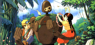 Sheeta, Pazu und ein Roboter