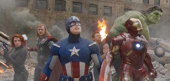 Ein Trümmerhaufen und die Avengers