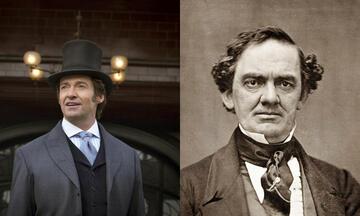 Hugh Jackman als P.T. Barnum und ein echtes Abbild des Zirkuspioniers