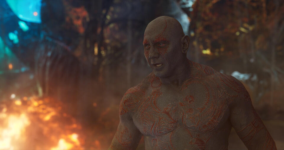 Guardians of the Galaxy Vol. 2 mit Dave Bautista