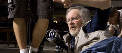 Steven Spielberg am Set von Lincoln