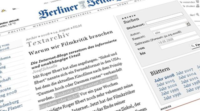 Berliner Zeitung: Dieses Internetz wird sich nie durchsetzen