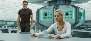 Chris Pratt und Jennifer Lawrence in Passengers