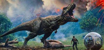 Bild zu:  Jurassic World 2: Das gefallene Königreich:Owen und ein T-rex