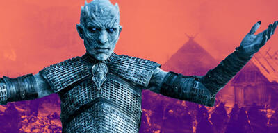 Der Night King in Game of Thrones