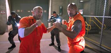 Bild zu:  Jason Statham und Dwayne Johnson in Fast & Furious 8